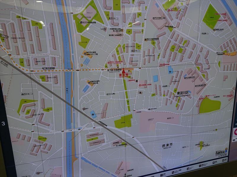 井高野駅 地図